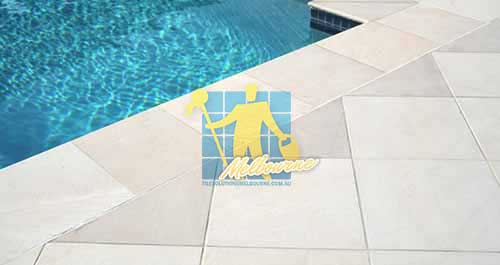 outdoor sandstone tile pool snow white