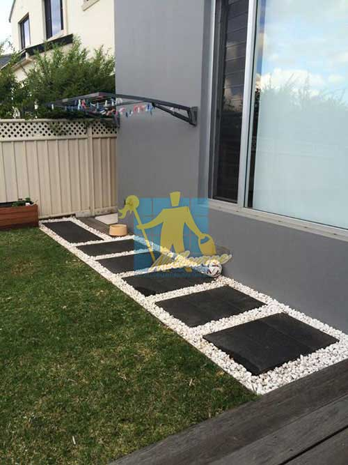 Melbourne outdoor cleaned bluestone tiles