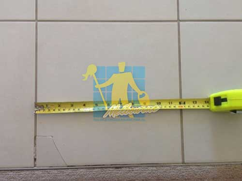 Melton repairing damaged tiles