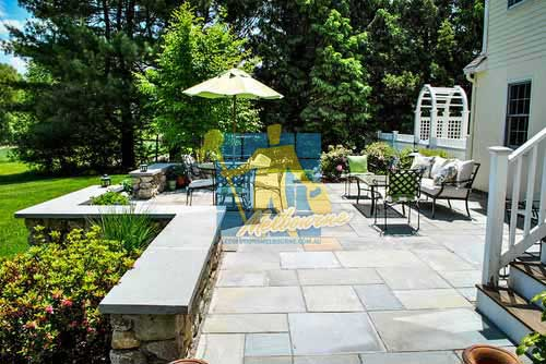 bluestone traditional patio outdoor terrace furniture