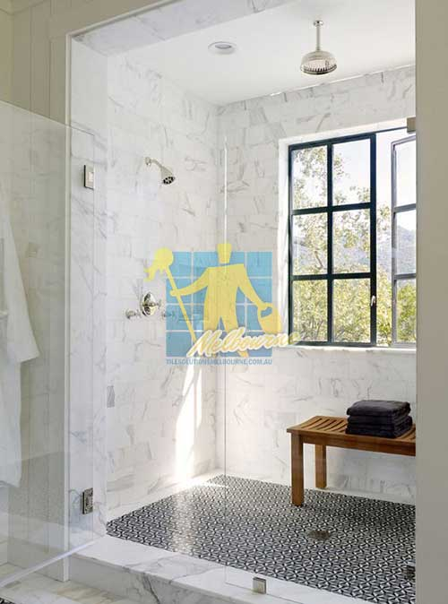 Beautiful Shower Design with marble tiles grinded