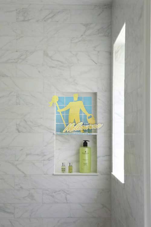 Cora Lynn marble tiled shower with window