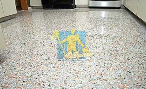 Terrazzo floors after polishing process