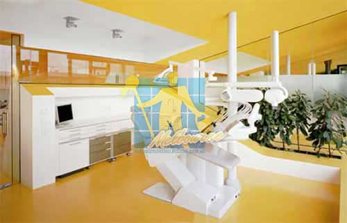 dental clinic yellow vinyl floor Melbourne