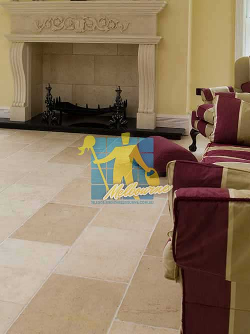 marble tile tumbled acre white grout livingroom