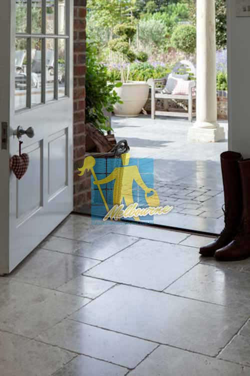 South Yarra marble tumbled tundra tile entrance