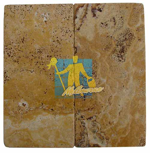 Giallo Gold Tumbled Travertine Paver Sample